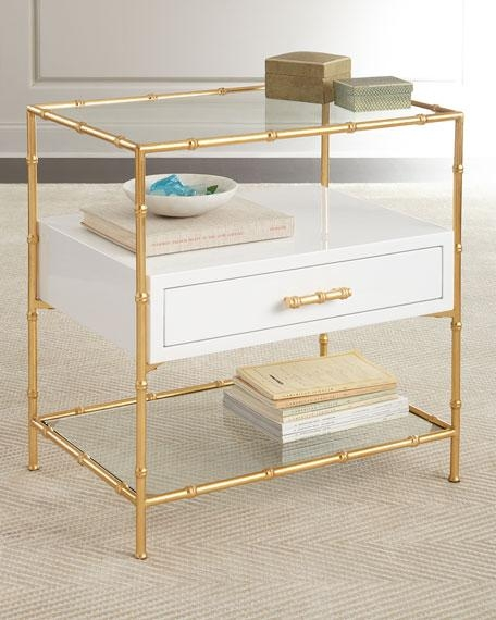 Impressive Deluxe Gold Bamboo Coffee Tables Inside Mirrored Top Gold Bamboo Side Table (View 4 of 50)