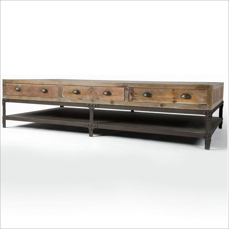 Impressive Deluxe Grey Wash Coffee Tables For Bina Cros Rustic Modern Round Wood Coffee Table With Grey Frame (Image 27 of 50)
