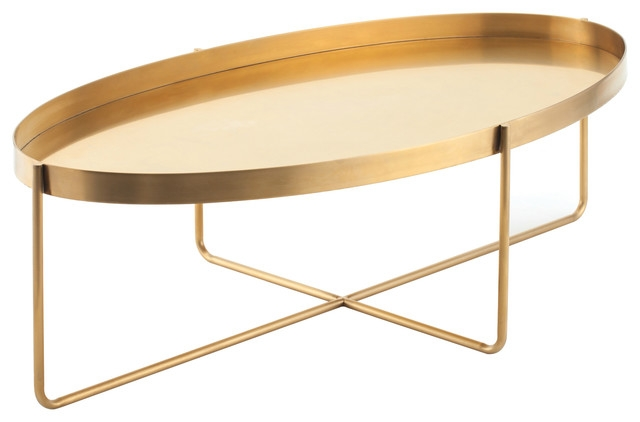 Impressive Deluxe Metal Oval Coffee Tables Within Gaultier Coffee Table Contemporary Side Tables And End Tables (Image 22 of 50)