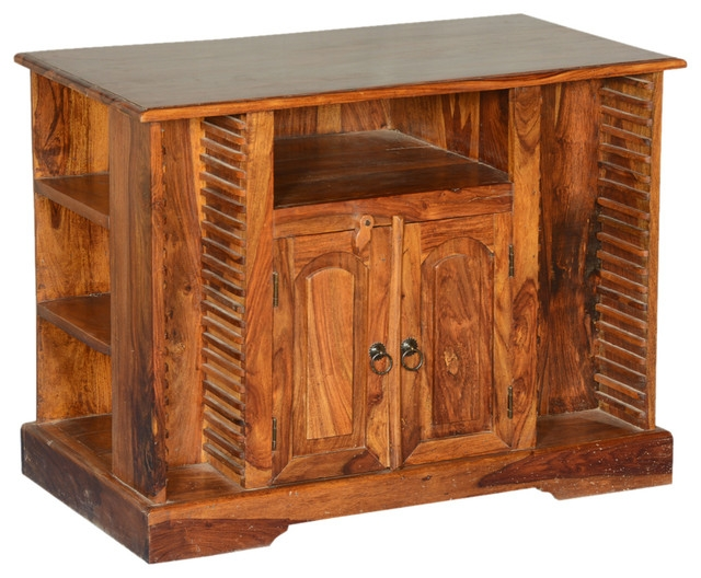 Impressive Deluxe Real Wood Corner TV Stands In Rustic Solid Wood Texas Media Console Tv Stand Entertainment (Image 31 of 50)