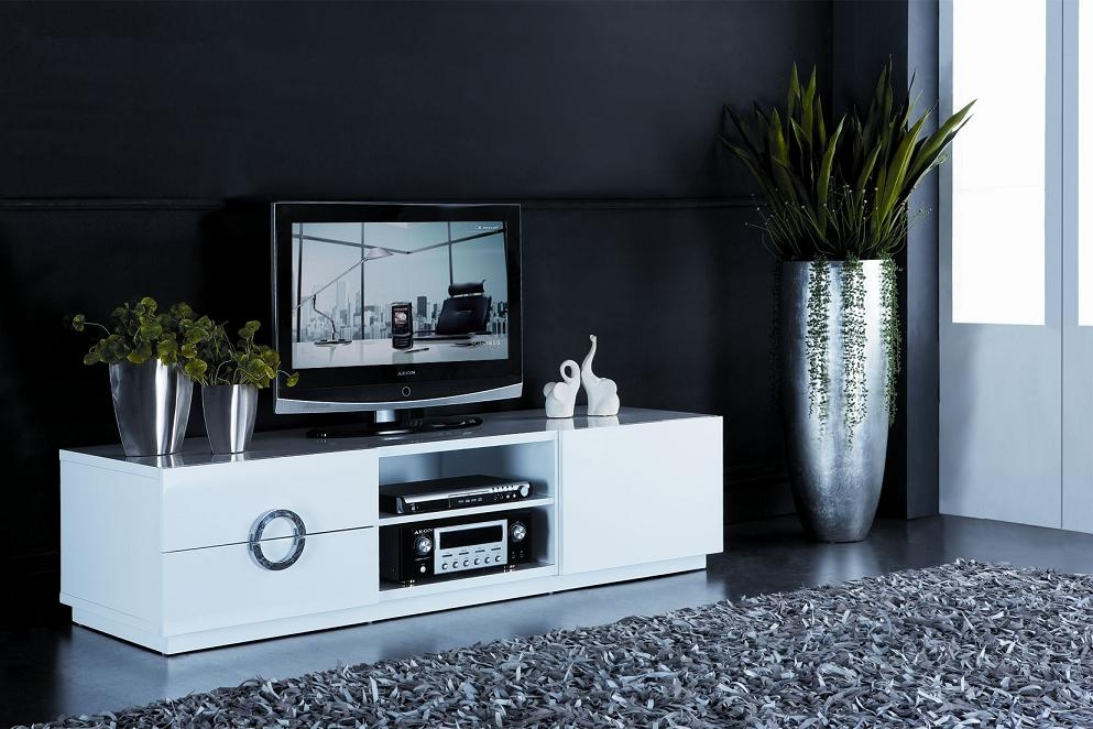 Impressive Deluxe Shiny Black TV Stands Pertaining To Tv Stands Stunning Highboy Tv Stand White Design Collection  (Image 27 of 50)
