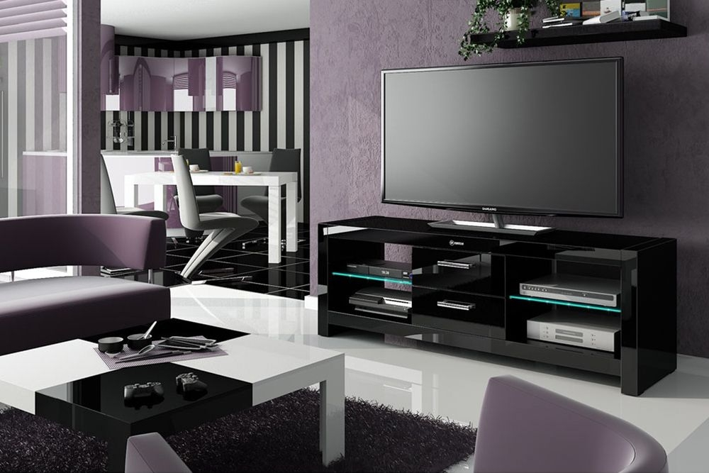 Impressive Deluxe Shiny Black TV Stands With Tv Stands Astounding Tv Stand 75 Inch Design Ideas Tv Stand  (Image 28 of 50)