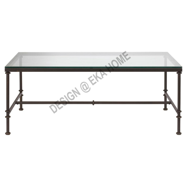 Impressive Deluxe Vintage Glass Coffee Tables Throughout Wrought Iron Glass Coffee Table (View 44 of 50)