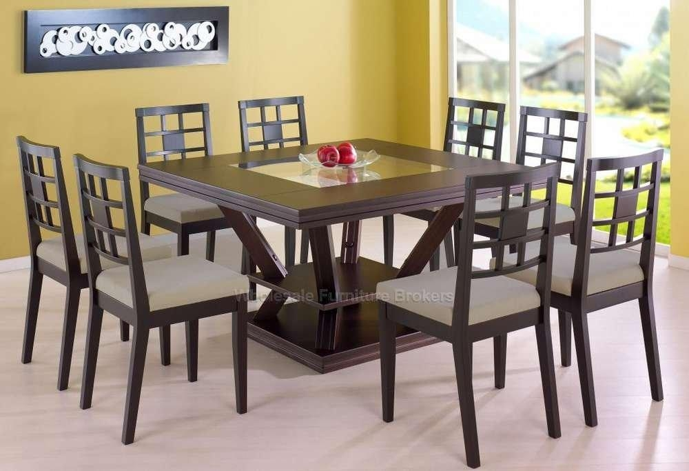 Impressive Dining Table Chair Sets Chatham Wood Rectangular For 8 Seater Round Dining Table And Chairs (Image 10 of 20)