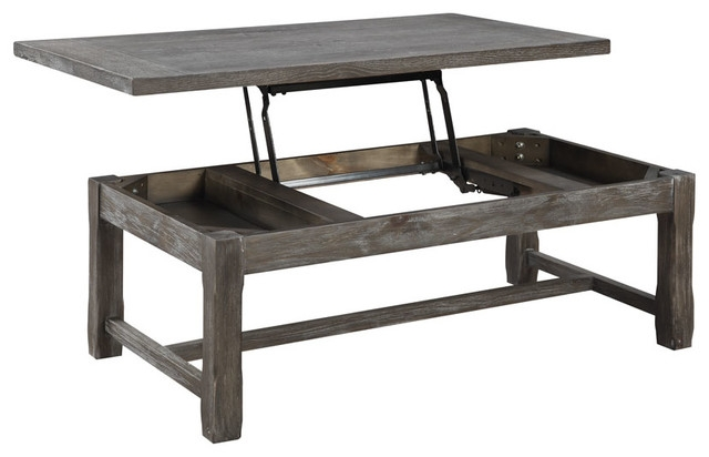 Impressive Elite Coffee Table With Raised Top With Rustic Coffee Tables Houzz (Image 27 of 50)