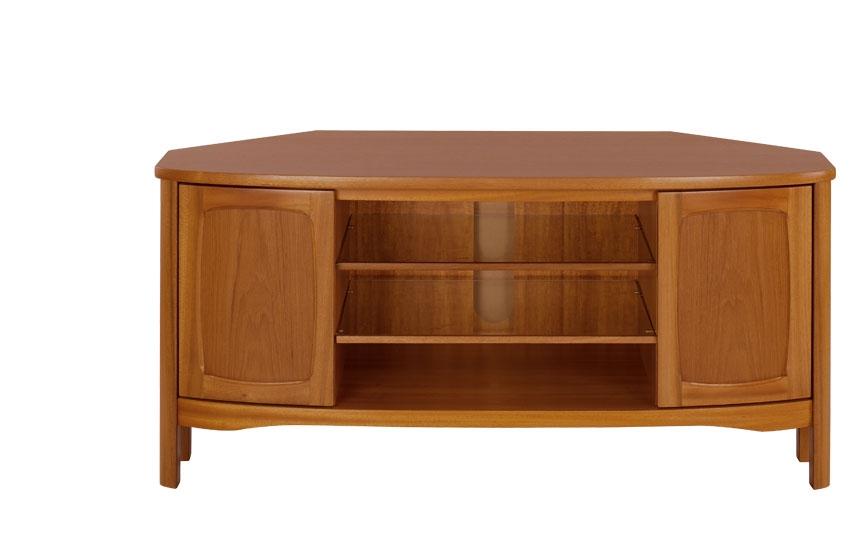Impressive Elite Corner Oak TV Cabinets With Regard To Tv Media Nathan Furniture Ltd (Image 29 of 50)