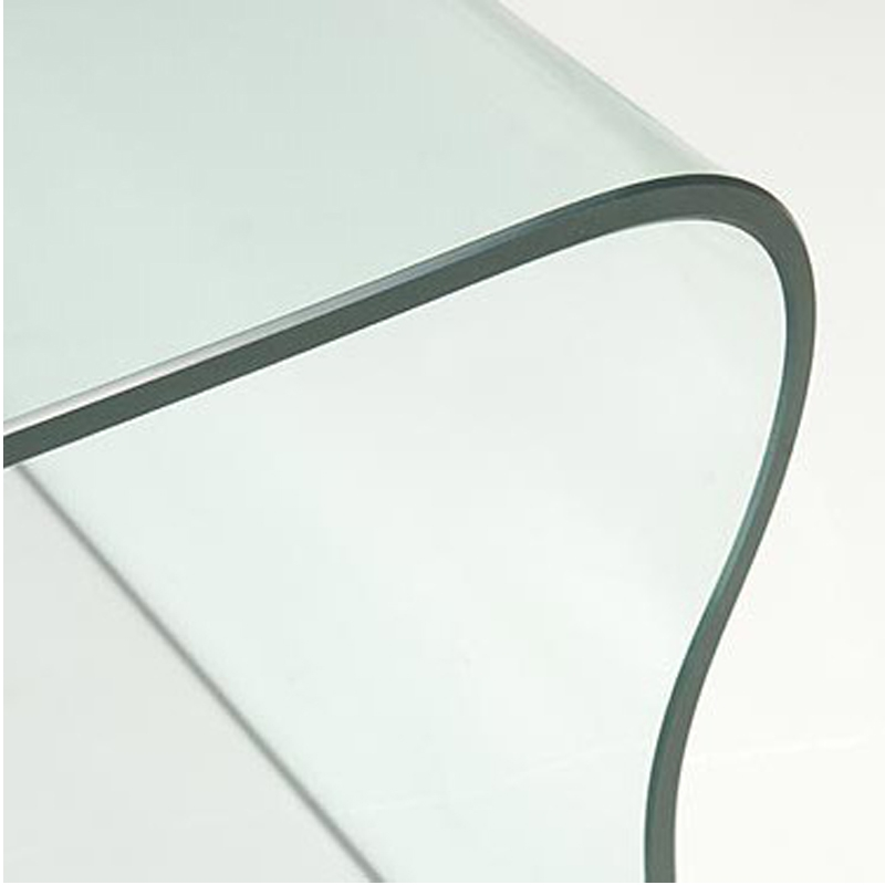 Impressive Elite Curved Glass Coffee Tables Throughout Curved Glass Coffee Table Ct041 In Stock Abode Interiors (Image 26 of 50)