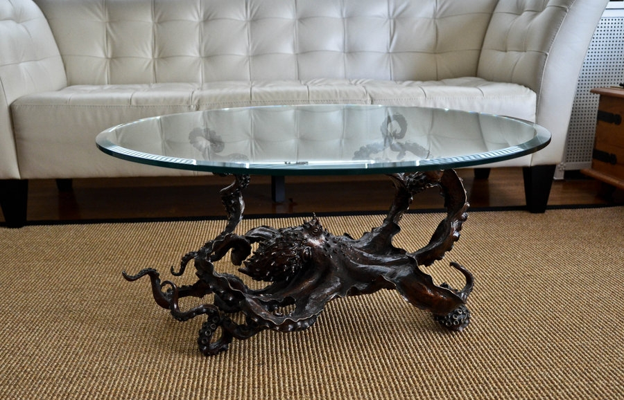 Impressive Elite Dragon Coffee Tables Intended For Cephalopod Chic Bronze Octopus Coffee Table Bronze4u On (Image 31 of 50)