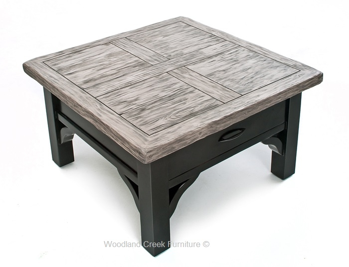 Impressive Elite Grey Wash Wood Coffee Tables With Rustic Coffee Table Painted Coffee Table Cottage Design (Image 30 of 50)