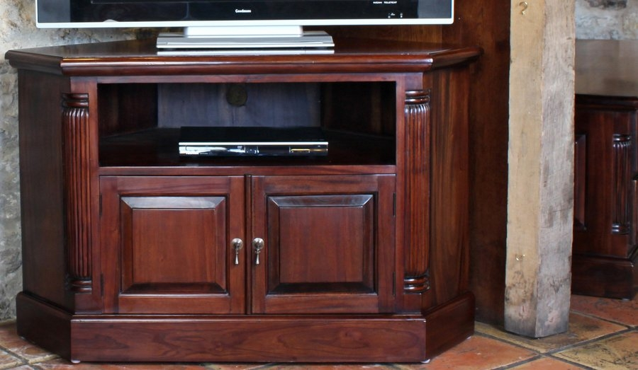 Impressive Elite Mahogany Corner TV Cabinets Regarding Abdabs Furniture La Roque Mahogany Corner Tv Cabinet (Image 29 of 50)