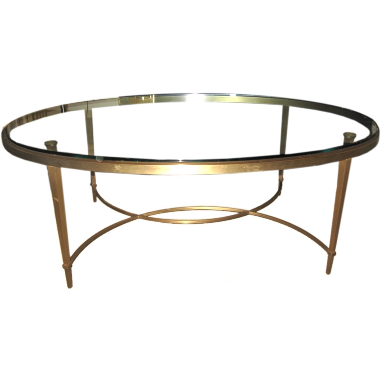 Impressive Elite Oval Glass Coffee Tables Inside Coffee Table Oval Coffee Table Glass Console Tables All (Image 29 of 50)