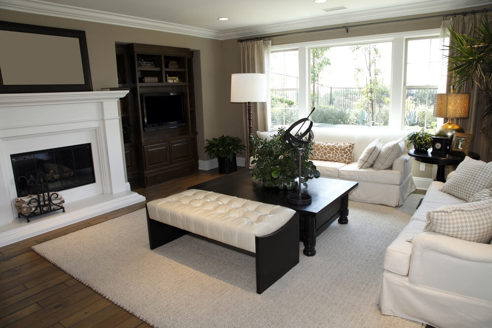 Impressive Elite Oversized Square Coffee Tables Regarding 50 Beautiful Living Rooms With Ottoman Coffee Tables (Image 29 of 50)