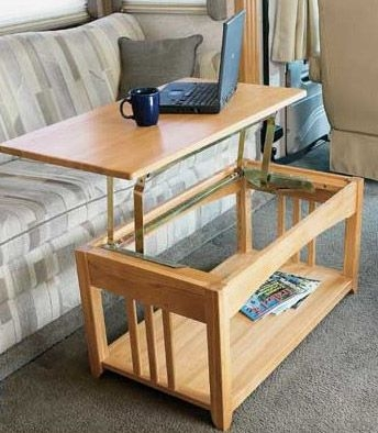 Impressive Elite Pull Up Coffee Tables For Multipurpose Lift Top Rv Coffee Table That Is Just Right For The Rv (Image 28 of 50)