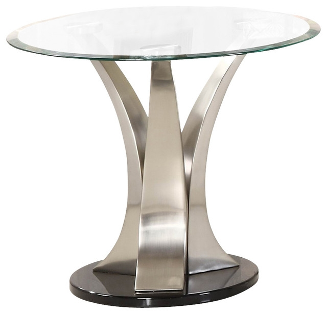 Impressive Elite Round Chrome Coffee Tables Inside Round Glass Side Tables Starrkingschool (Image 26 of 50)