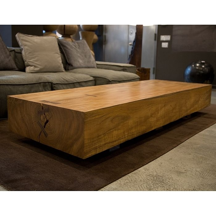 Impressive Elite Solid Wood Coffee Tables With Regard To Living Room Top Contemporary Rustic Coffee Tables Live Edge Solid (Image 29 of 50)