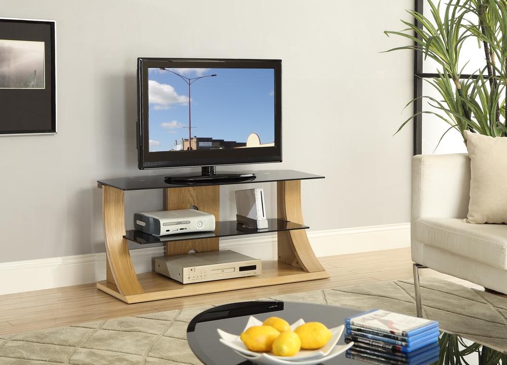 Impressive Elite TV Stands In Oak In Jual Curved Modern Tv Stand In Walnut Or Oak Tv Media Units (View 20 of 50)