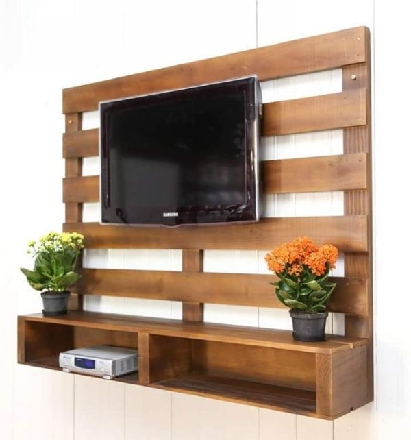 Impressive Elite Unique TV Stands Inside Best 25 Pallet Tv Stands Ideas Only On Pinterest Rustic Tv (View 22 of 50)