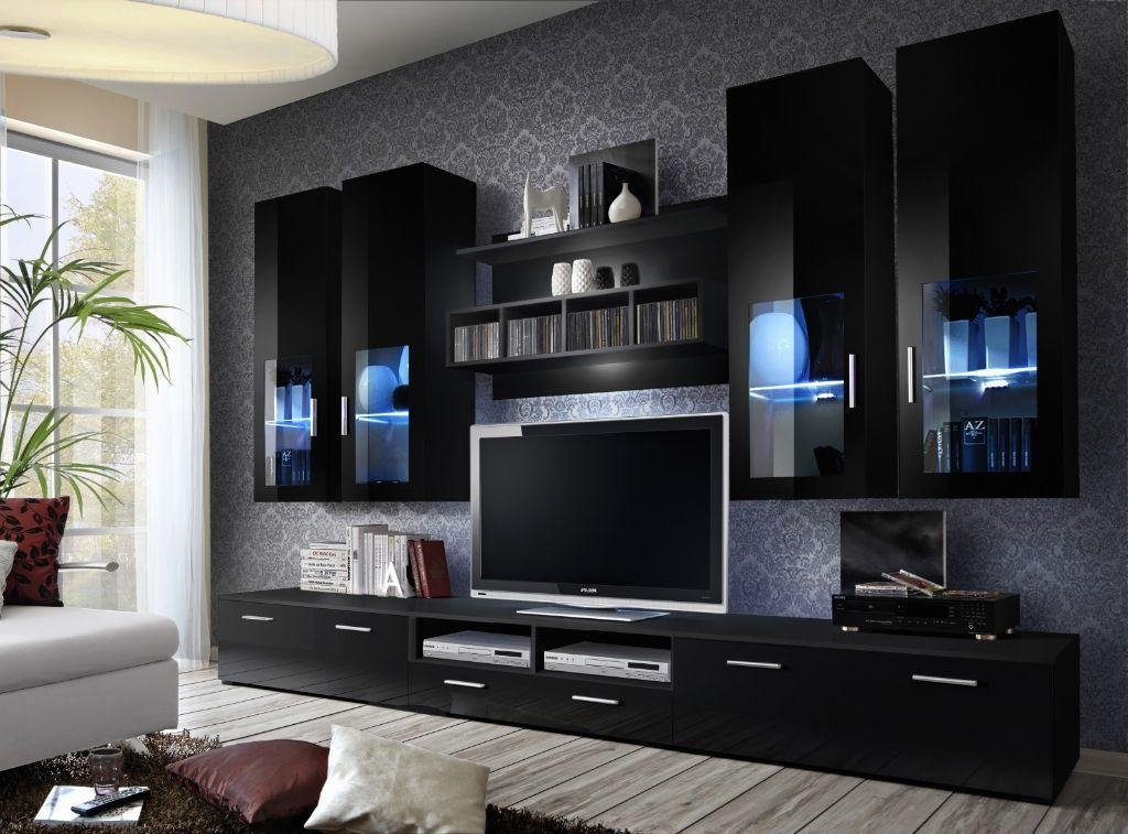 Impressive Elite White And Black TV Stands Throughout Tv Stands Glamorous High Gloss Tv Stand 2017 Design Black High (Image 26 of 50)