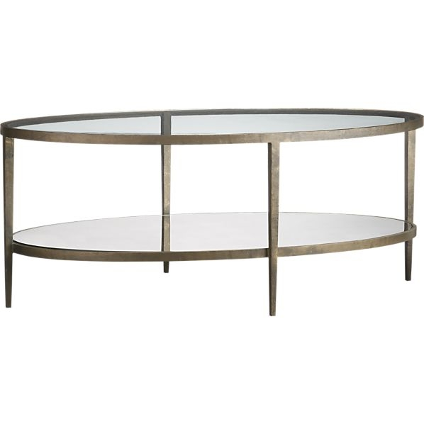 Impressive Famous Coffee Tables Glass And Metal Inside Oval Glass And Metal Coffee Table (Image 27 of 50)