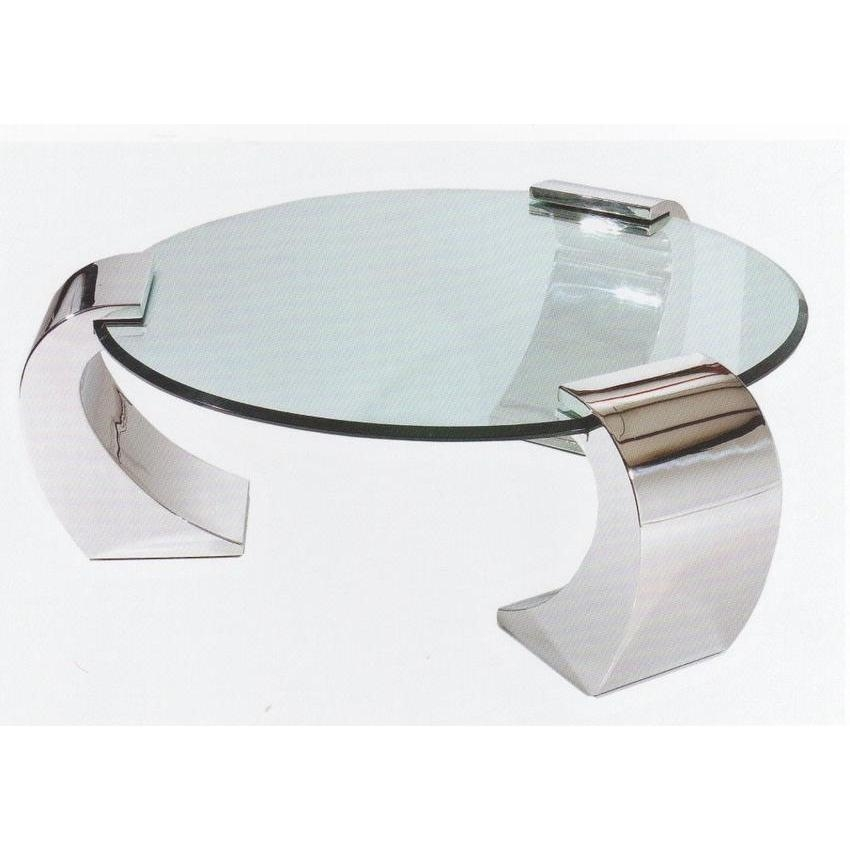 Impressive Famous Coffee Tables Metal And Glass For Dining Room Great Round Metal And Glass Coffee Table (Image 23 of 40)