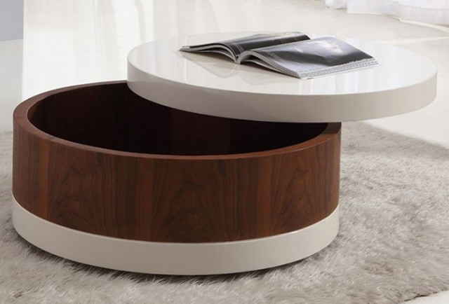 Impressive Famous Coffee Tables With Basket Storage Underneath Throughout Coffee Table Wonderful Round Coffee Table With Storage For Living (Image 23 of 50)