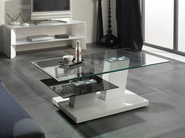 Impressive Famous Contemporary Glass Coffee Tables Within Coffee Table Charlize Glass Coffee Table Modern Coffee Tables (Image 30 of 50)