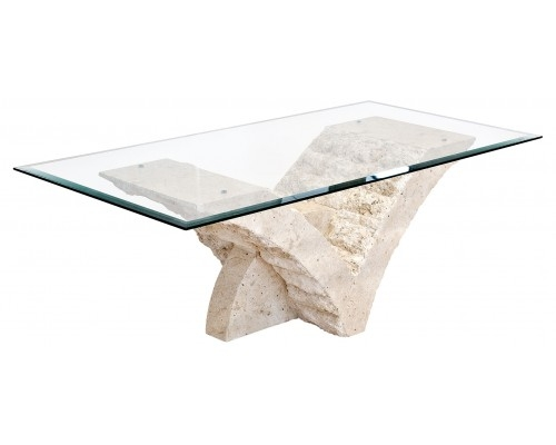 Impressive Famous Glass And Stone Coffee Table Pertaining To Stone Glass Coffee Table Szahomen (Image 25 of 50)