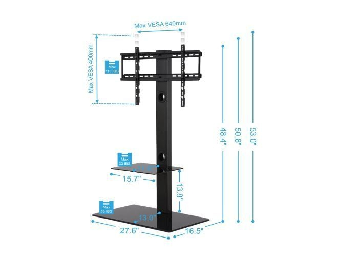 Impressive Famous Home Loft Concept TV Stands Regarding Tv Stands For Flat Screens Home Loft Concept 32 To 65 Inch Swivel (Image 22 of 50)
