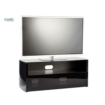 Impressive Famous Iconic TV Stands Regarding 19900 Iconic Tv Stands Acacia Series Tv Cabinet Black Gloss (View 13 of 50)