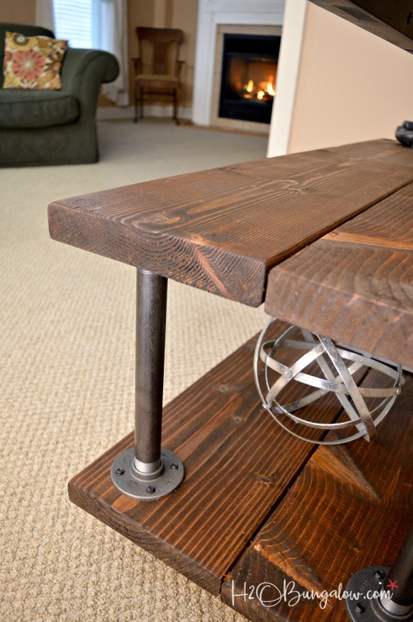 Impressive Famous Industrial Style TV Stands With Diy Industrial Style Media Stand With Wheels H20bungalow (View 33 of 50)