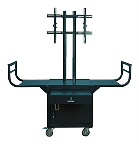 Impressive Famous Lockable TV Stands For Rolling Tv Stands Mobile Lcd Cart (Image 29 of 50)