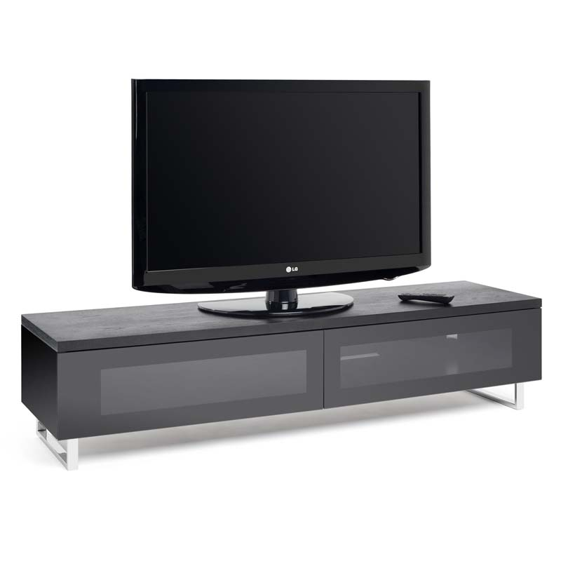 Impressive Famous Panorama TV Stands Within Techlink Panorama Series Low 65 Tv Stand With Drop Down Door And (View 32 of 50)