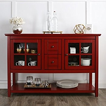 Impressive Famous Red TV Stands For Amazon We Furniture 52 Console Table Wood Tv Stand Console (Image 26 of 50)