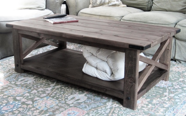 Impressive Famous Rustic Style Coffee Tables Pertaining To Ana White Rustic X Coffee Table Diy Projects (View 2 of 50)