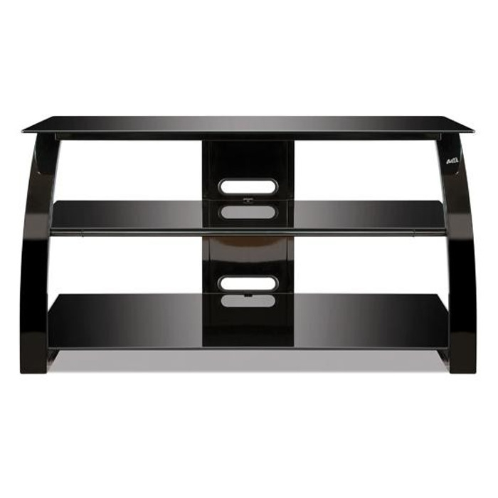 Impressive Famous Shiny Black TV Stands Regarding Tv Stands Tv Stands Tv Mounts Consoles Tv Audio Electronics (Image 29 of 50)