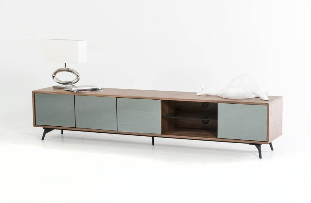 Impressive Famous Ultra Modern TV Stands Regarding Furniture Curvy Wood And Tempered Glass Modern Tv Stands With (Image 23 of 50)