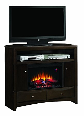Impressive Famous Walnut Corner TV Stands Within Amazon Classicflame 26de9401 W509 Delray Wall Or Corner Tv (Image 32 of 50)