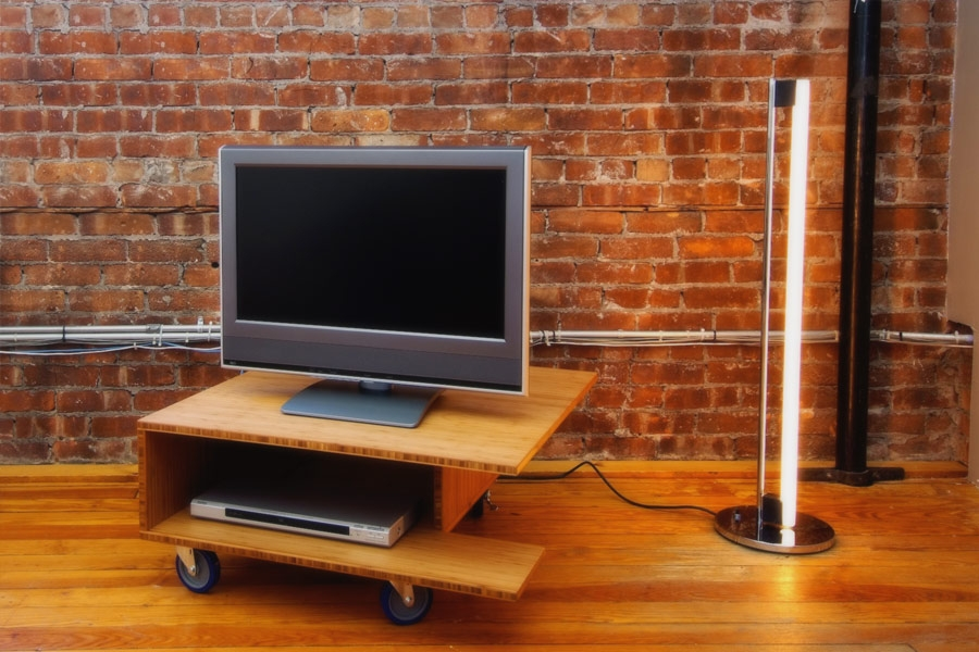 Impressive Famous Wooden TV Stands With Wheels For Tv Stands Glamorous Rolling Tv Stands For Flat Screens  (Image 30 of 50)
