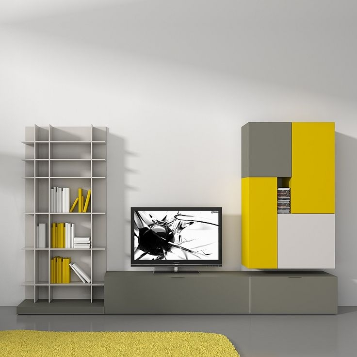 Impressive Famous Yellow TV Stands Within Tv Stands Kids Bookshelf Tv Stand Design Ideas Images Tv Stand (View 14 of 50)