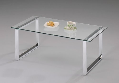 Impressive Fashionable Chrome And Glass Coffee Tables Within Amazon Kings Brand Modern Design Chrome Finish With Glass Top (View 50 of 50)