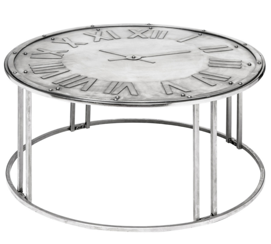 Impressive Fashionable Clock Coffee Tables Round Shaped Within 8 Beautiful Industrial Coffee Tables (Image 28 of 50)