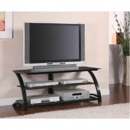 Impressive Fashionable Contemporary TV Stands For Flat Screens Within Brand New Tv Stand Media Console W Contemporary Metal Glass Shelves (View 43 of 50)