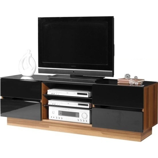 Impressive Fashionable Dark Walnut TV Stands In Stylish Plasma Tv Stand In Dark Walnut With 4 Drawers  (Image 29 of 50)
