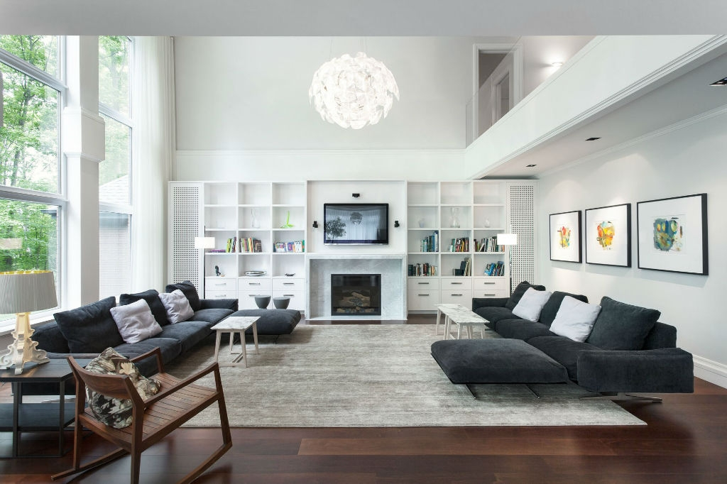 Impressive Fashionable Full Wall TV Cabinets With Living Room Gray Living Room Furniture Ideas Fireplace Above Tv (Image 28 of 50)