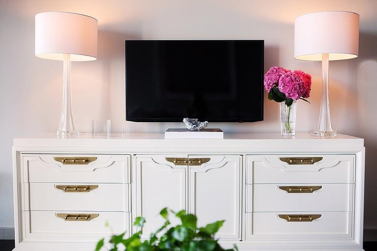 Impressive Fashionable Gold TV Cabinets In Rectangular Gold Mirrored Tv Cabinet (Image 28 of 50)