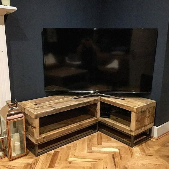 Impressive Fashionable Industrial Corner TV Stands For Best 25 Corner Tv Stand Ideas Ideas On Pinterest Corner Tv (Image 30 of 50)