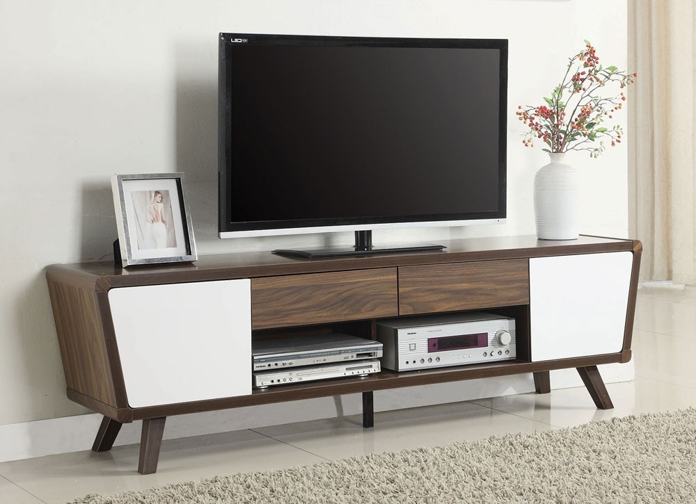 Impressive Fashionable Low Profile Contemporary TV Stands With Regard To Valor Low Profile Modern Tv Stand (Image 30 of 50)