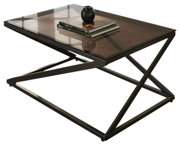 Impressive Fashionable Metal Coffee Tables With Glass Top Inside Glass Top Coffee Table With Metal Base (Image 26 of 50)