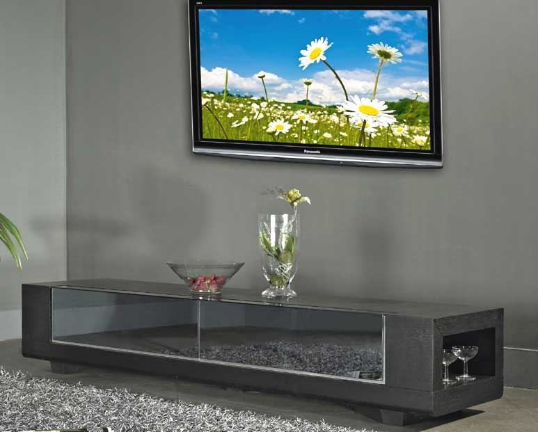 Impressive Fashionable Mirrored TV Stands Regarding Tv Stand B 31 Brn Tv Stands (View 50 of 50)