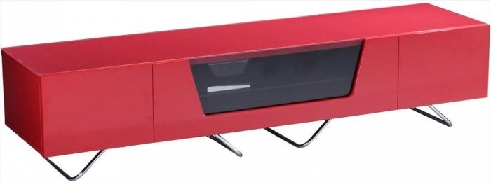Impressive Fashionable Red TV Stands Within Alphason Chromium 1600mm Tv Stand In Red Cro2 1600cb Red (Image 27 of 50)